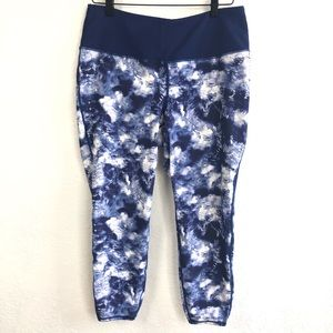 Torrid Blue and White workout pants Plus Size 1